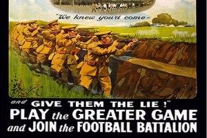 Cartel Reclutación del Batallón de los Futbolitas