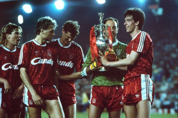 Liverpool celebrate winning the league title in 1990